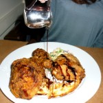#36 – BUTTERMILK FRIED CHICKEN WITH CHEDDAR WAFFLES at BUTTERMILK CHANNEL