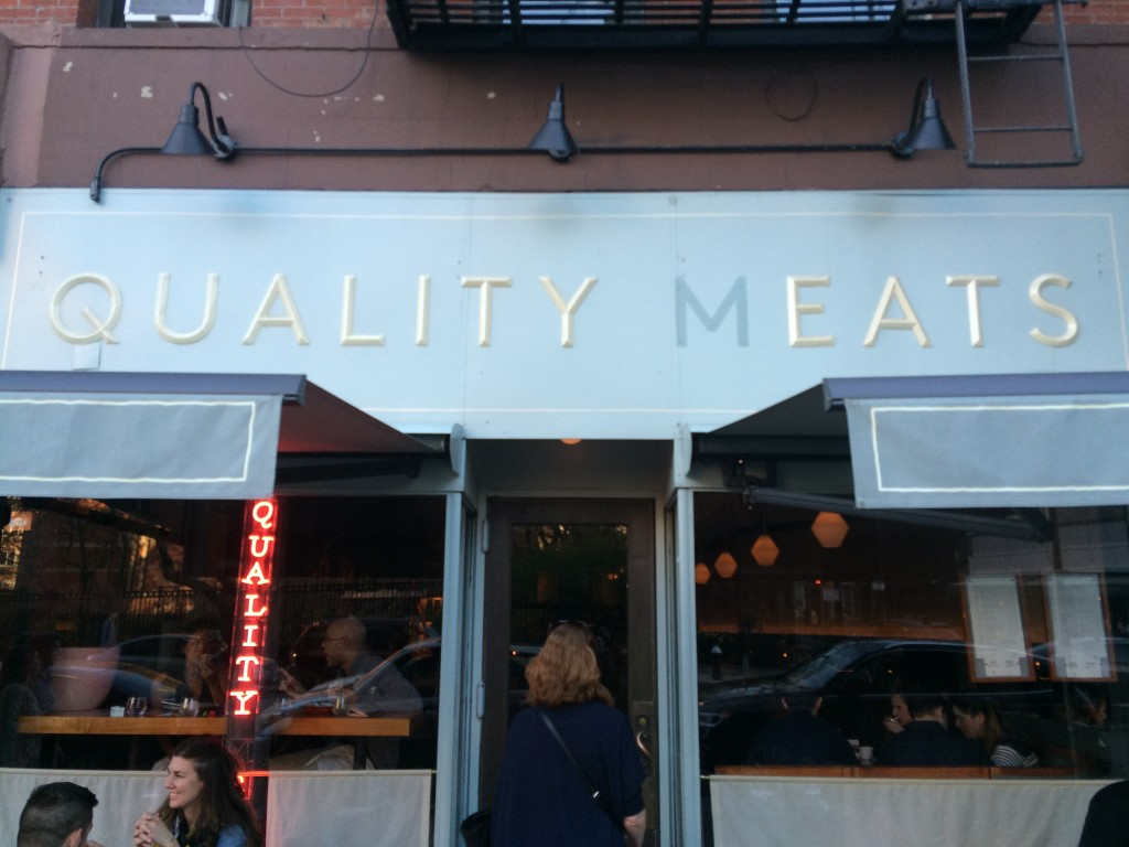QUALITY EATS, 19 Greenwich Avenue (between West 10th and Christopher Street), West Village