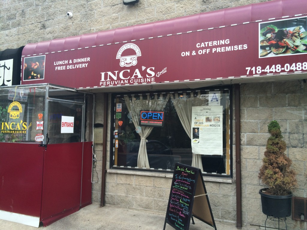 INCA'S GRILL PERUVIAN CUISINE, 2110 Clove Road (between Crist Street and Giles Place), Grasmere, Staten Island